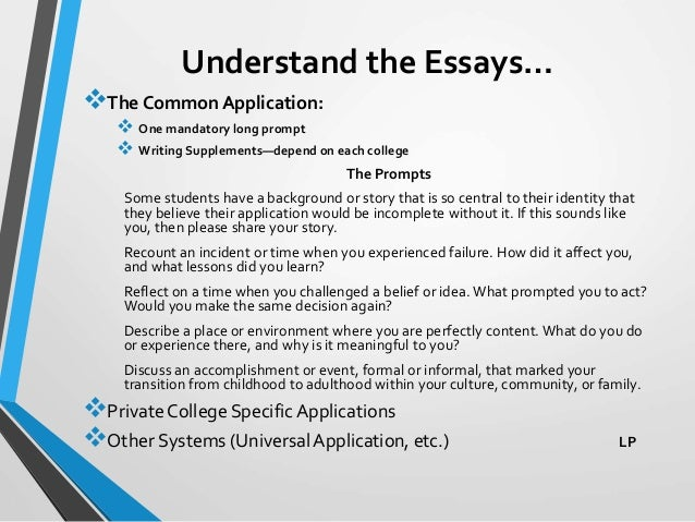 how long are univeristy application essays