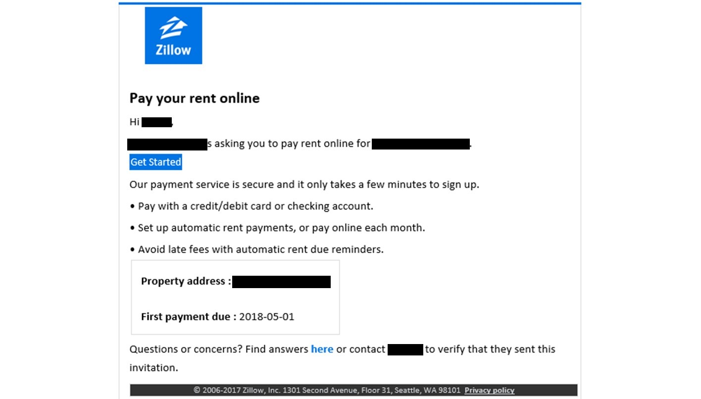 how to accept rental application by email