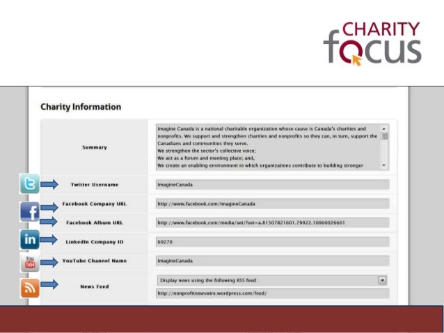 how to change a charity application canada