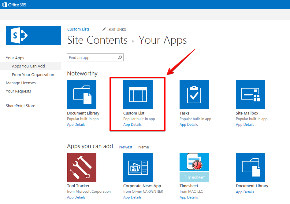 how to create simple sharepoint application