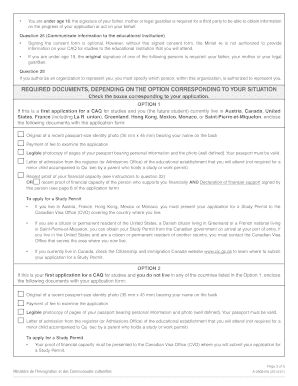 how to fill the application for quebec immigration peq