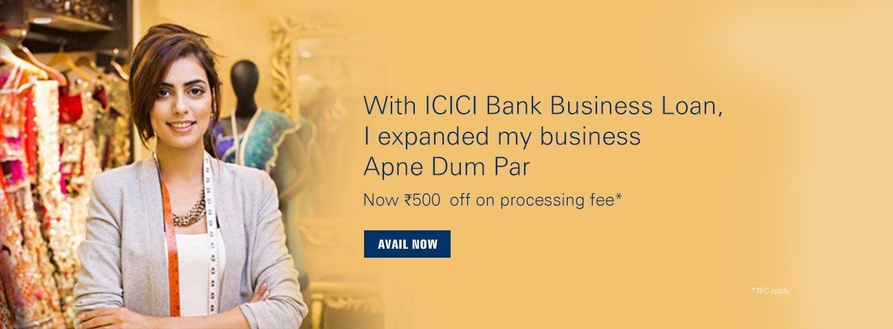 icici bank business loan application form