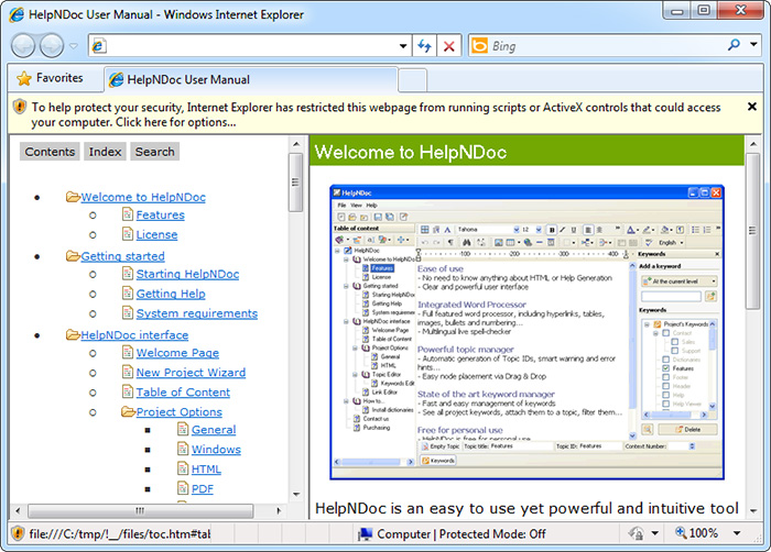 ie8 application blocked by security settings
