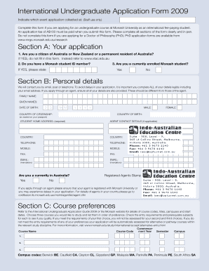 ielts online application form sample