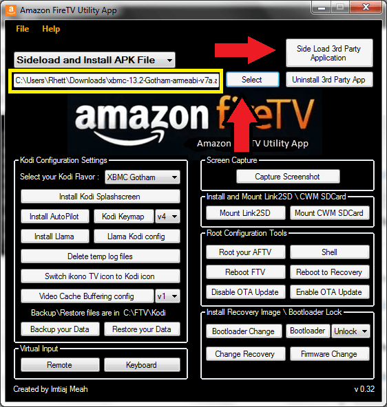 install application frome pc fire stick