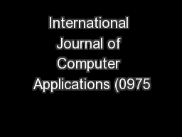 international journal computer technology applications