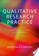 jane ritchie jane lewis the applications of qualitative research methods