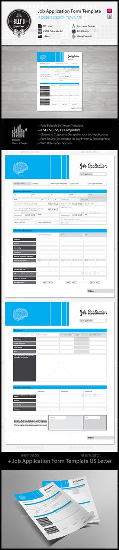 job application form design template