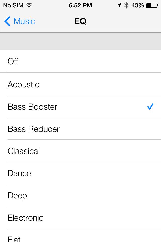 limite volume ipad 2 dans application