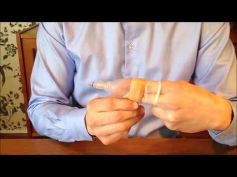 male condom catheter application demonstration