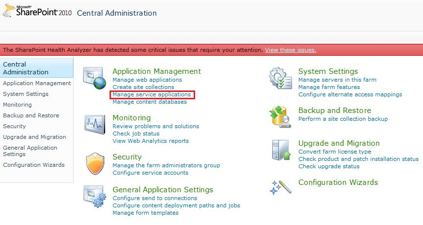 manage service applications sharepoint online