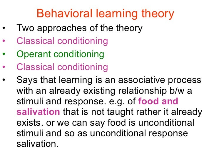 marketing applications of behavioural learning theories