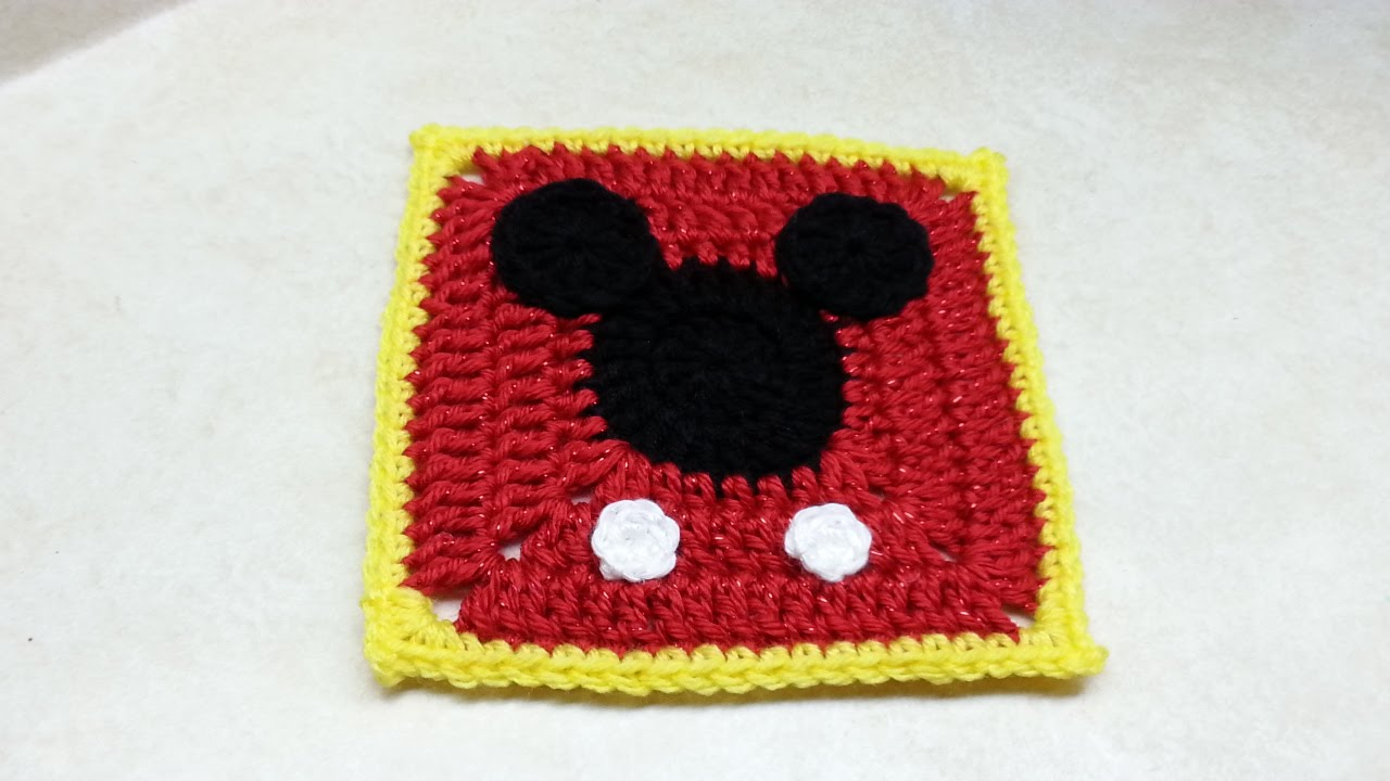 mickey mouse applique crochet pattern
