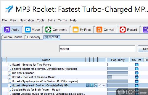 mp3 rocket the application failed