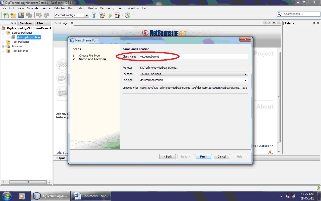 netbeans no java desktop application