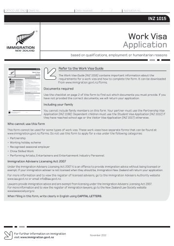 new work permit application for job i have