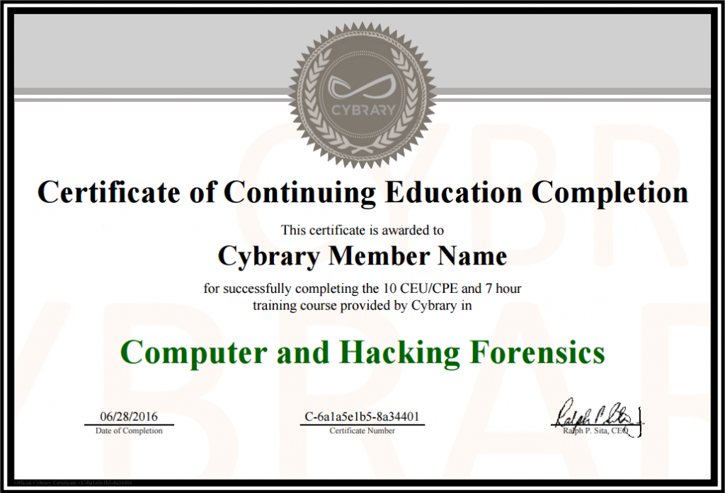 online certificate course in computer application