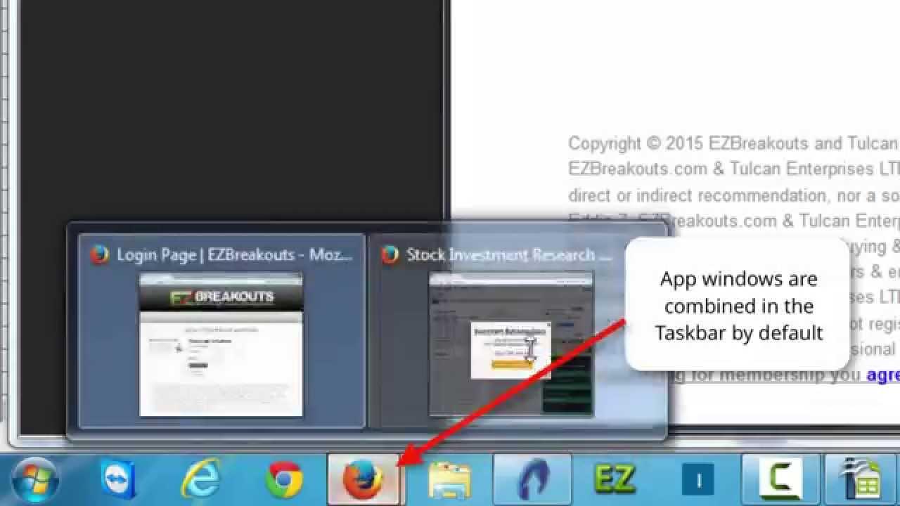open applications missing from taskbar