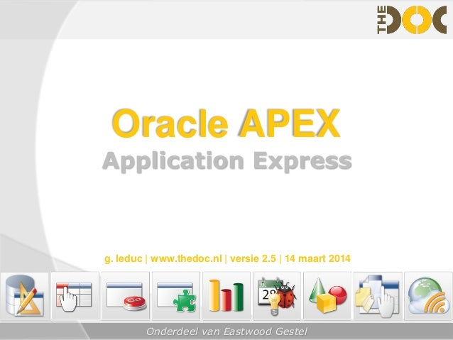 oracle application express 5 books