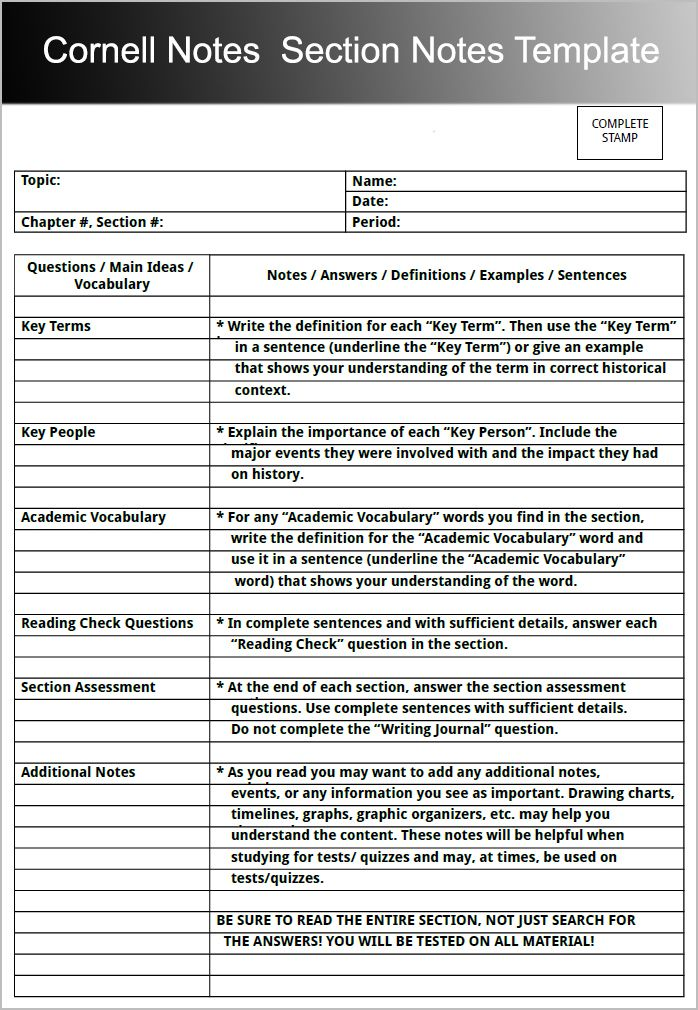 pdf to cornell notes application