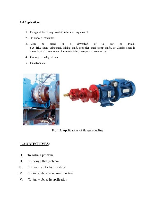 practical application of flange coupling