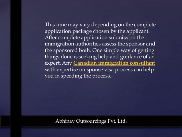 processing time spouse application canada