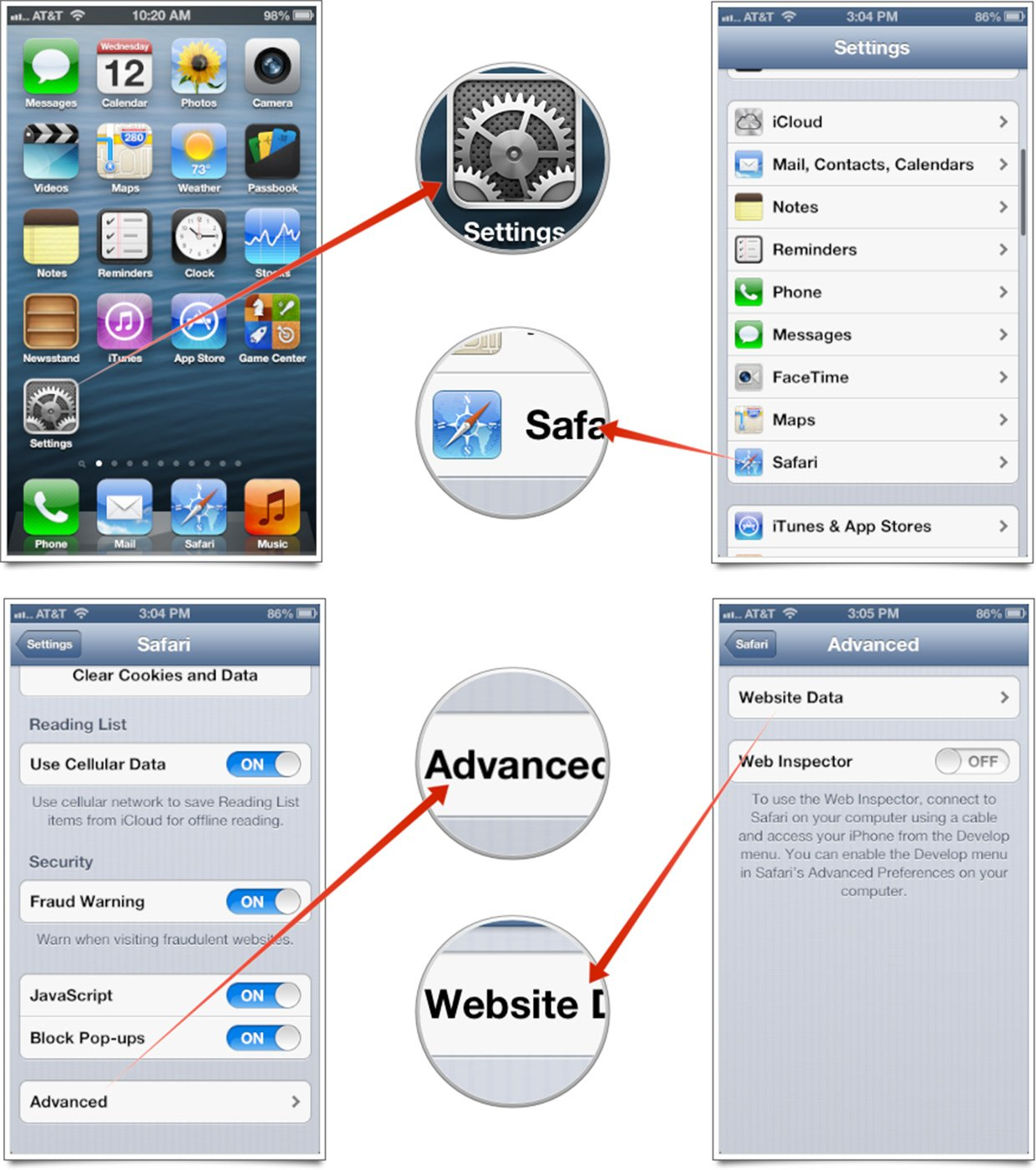 remove application data from iphone