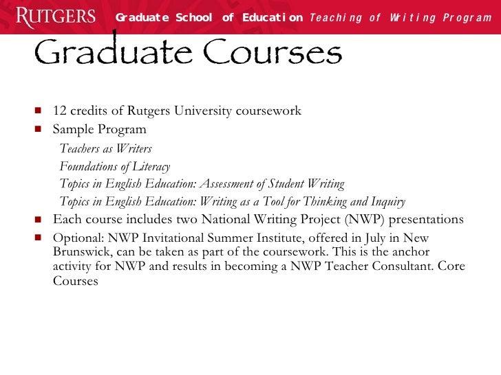 rutgers graduate school of education application