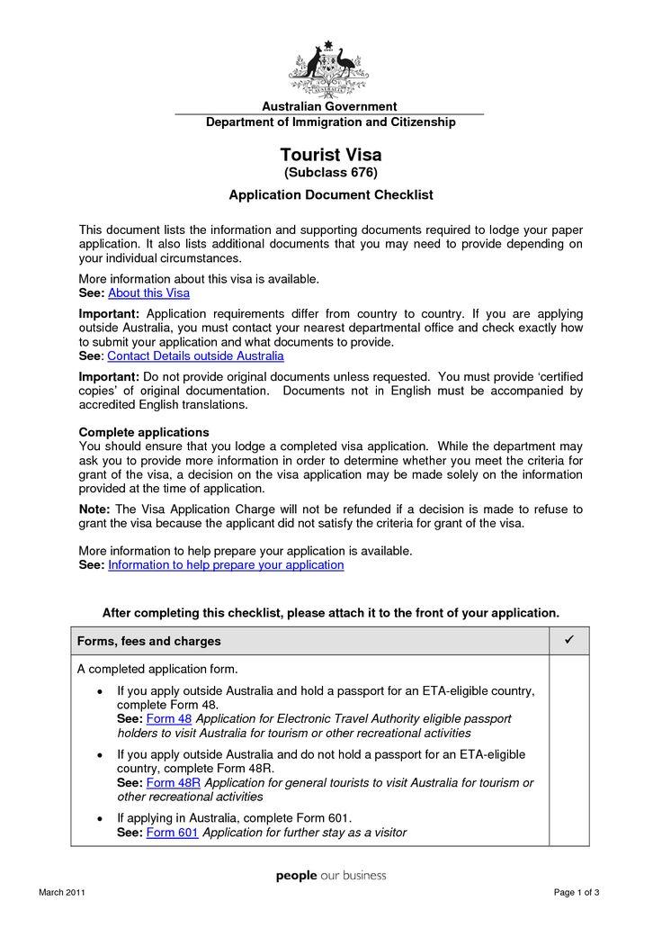 sample resume for b1 visa application