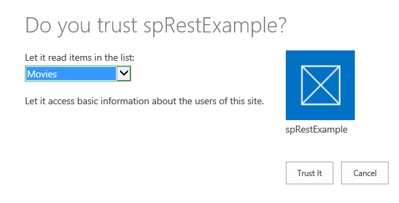 sharepoint rest api console application