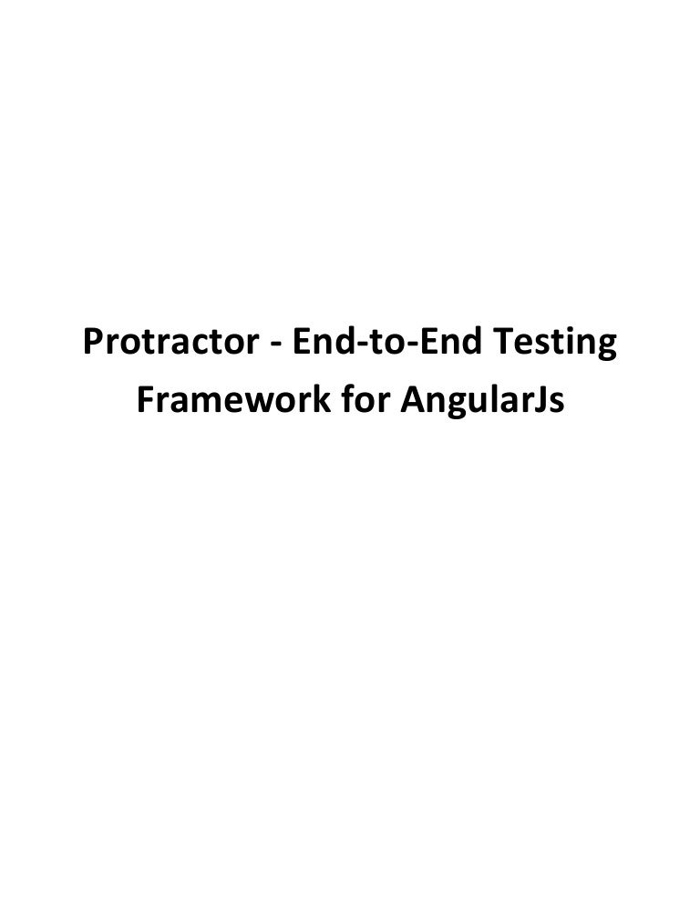testcafe vs protractor for angular 5 application
