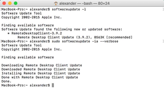 uninstall applications through the terminal mac