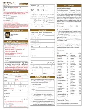 visa credit card application form pdf