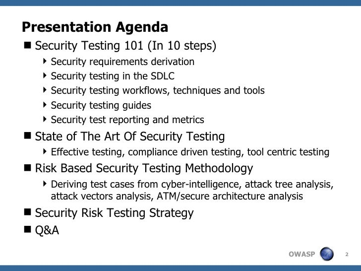 web application security testing test plan