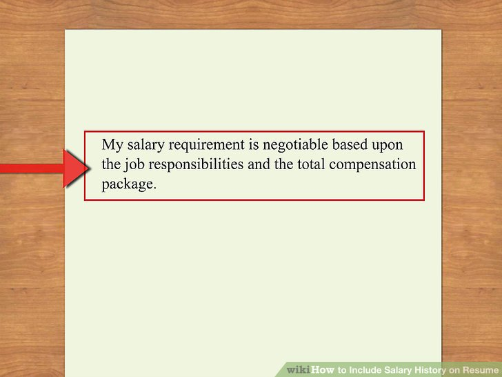 what to say on job application for desired salary